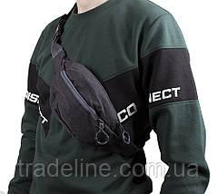 Сумка текстильная на пояс Dovhani Y302-1BLACK1-555 Черная, фото 2