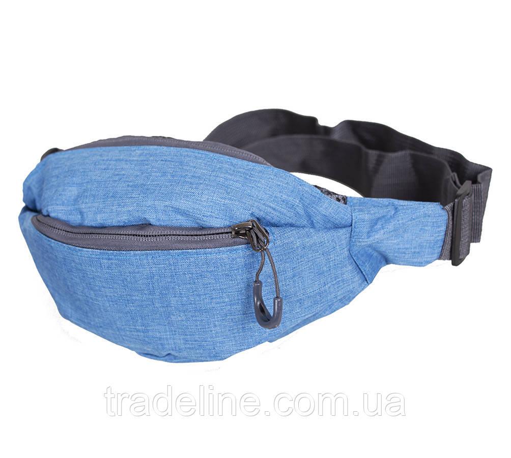 Сумка текстильная на пояс Dovhani Y302-12SBLUE1-555 Голубая