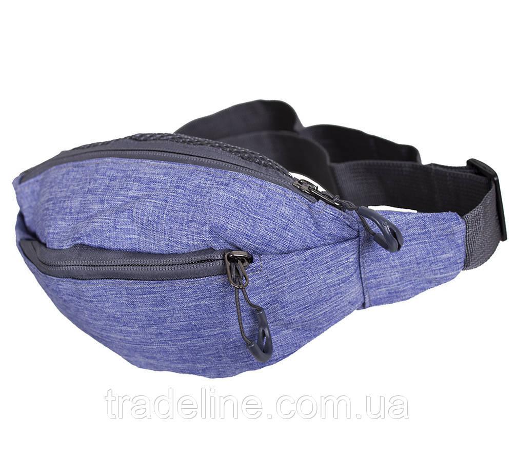 Сумка текстильная на пояс Dovhani Y302-21JBLUE1-555 Обманчево-Синяя