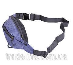 Сумка текстильная на пояс Dovhani Y302-21JBLUE1-555 Обманчево-Синяя, фото 3