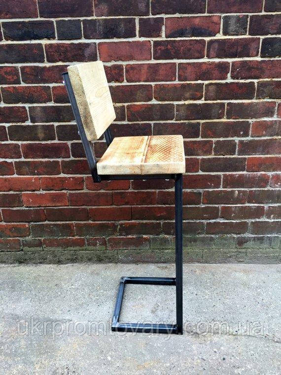Барный стул LOFT DESIGN 6344, НАТУРАЛЬНОЕ ДЕРЕВО, мебель Лофт Производство в Киеве