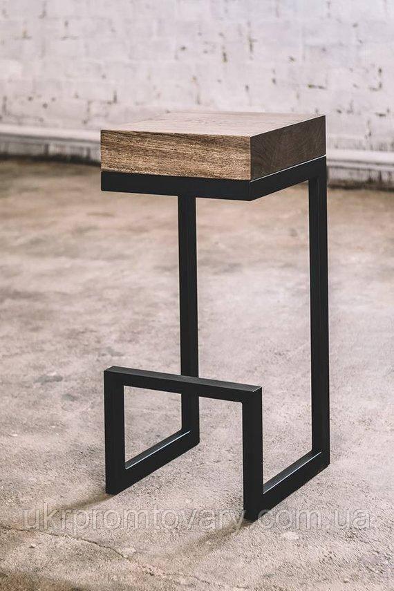 Барний стілець LOFT DESIGN 63411, НАТУРАЛЬНЕ ДЕРЕВО, меблі Лофт Виробництво в Києві