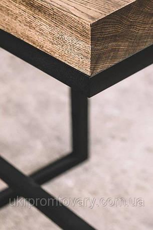 Барний стілець LOFT DESIGN 63411, НАТУРАЛЬНЕ ДЕРЕВО, меблі Лофт Виробництво в Києві, фото 2