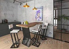 Барний стілець LOFT DESIGN 63418, НАТУРАЛЬНЕ ДЕРЕВО, меблі Лофт Виробництво в Києві, фото 2