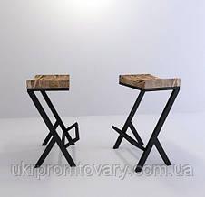 Барный стул LOFT DESIGN 63419, НАТУРАЛЬНОЕ ДЕРЕВО, мебель Лофт Производство в Киеве, фото 2