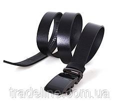 Мужской кожаный ремень Dovhani TC47777-255 115-125 см Черный, фото 3
