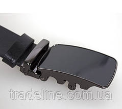 Мужской кожаный ремень Dovhani TC47777-255 115-125 см Черный, фото 2