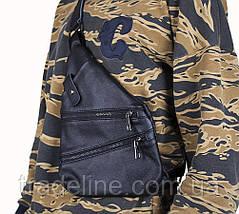 Мужская кожаная сумка Dovhani R1901-1BLACK -111 Черная, фото 2