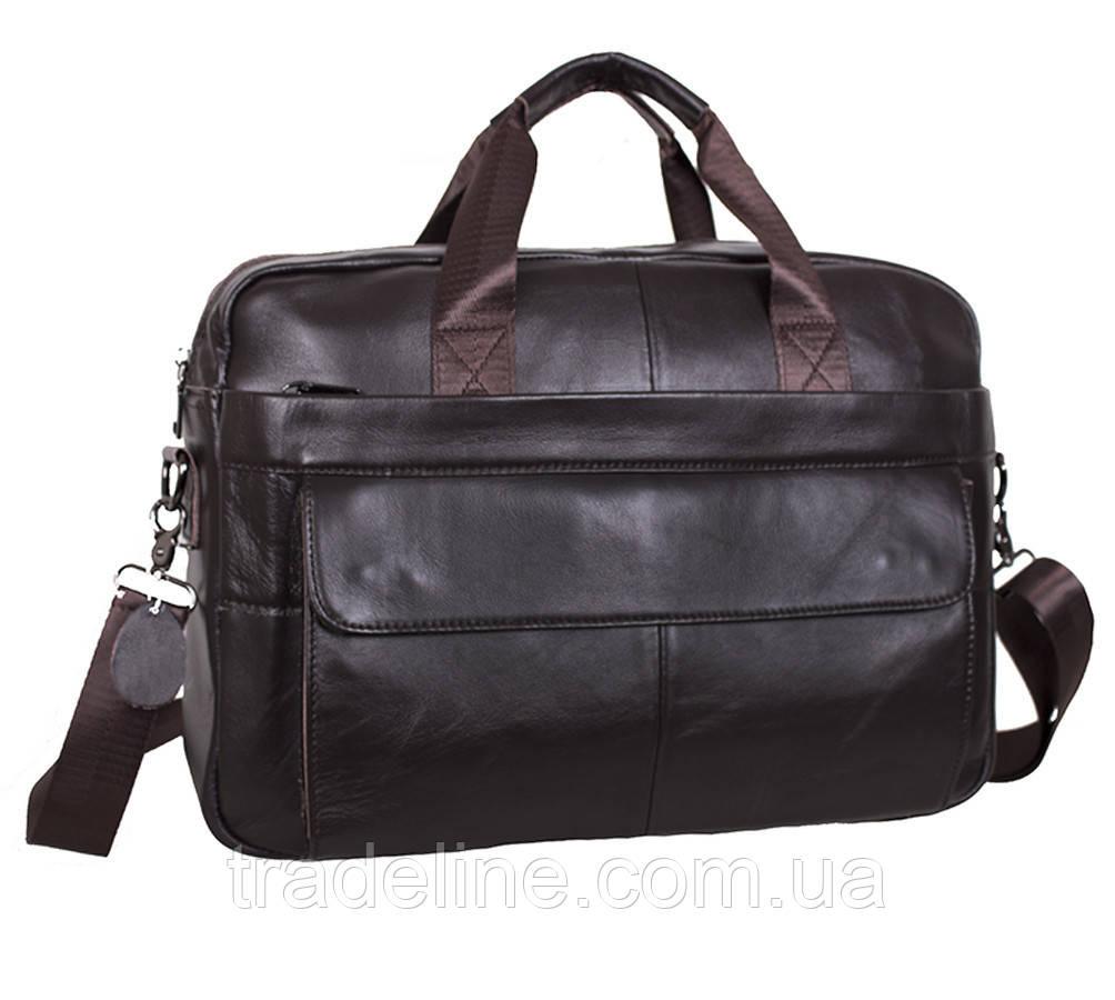 Мужская кожаная сумка Dovhani R1909BROWN-111 Коричневая