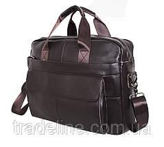 Мужская кожаная сумка Dovhani R1909BROWN-111 Коричневая, фото 3