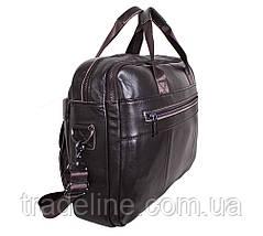 Мужская кожаная сумка Dovhani R1909BROWN-111 Коричневая, фото 2