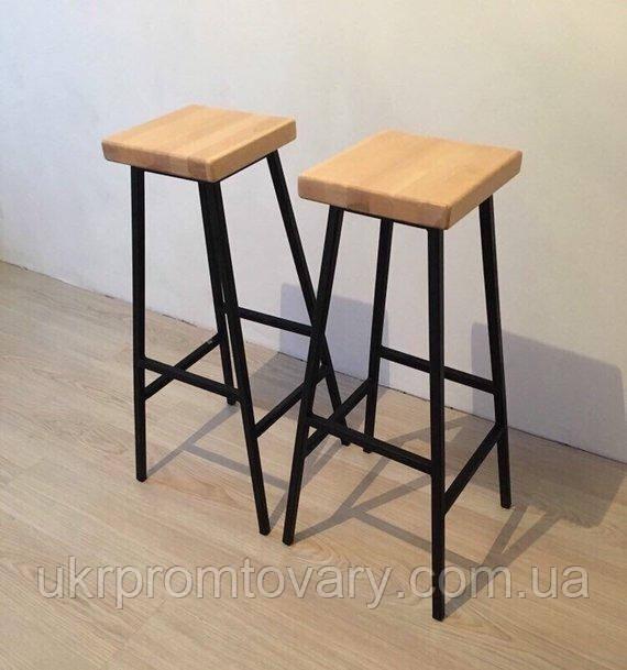 Барний стілець LOFT DESIGN 63433, НАТУРАЛЬНЕ ДЕРЕВО, меблі Лофт Виробництво в Києві