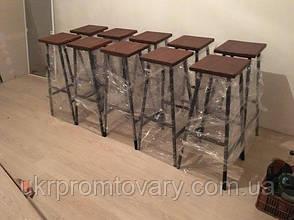 Барний стілець LOFT DESIGN 63433, НАТУРАЛЬНЕ ДЕРЕВО, меблі Лофт Виробництво в Києві, фото 2
