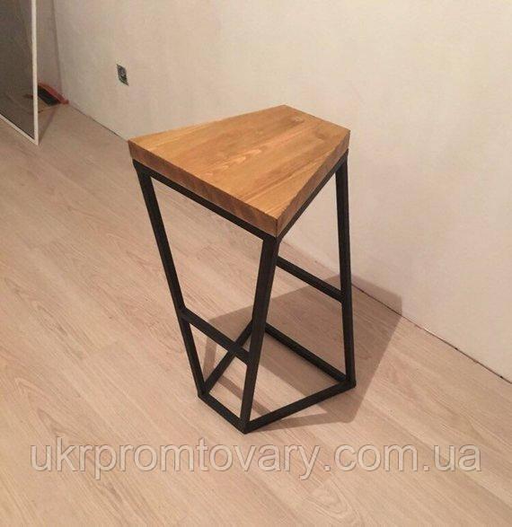 Барний стілець LOFT DESIGN 63438, НАТУРАЛЬНЕ ДЕРЕВО, меблі Лофт Виробництво в Києві