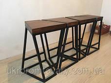 Барный стул LOFT DESIGN 63438, НАТУРАЛЬНОЕ ДЕРЕВО, мебель Лофт Производство в Киеве, фото 3