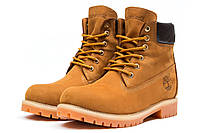 Мужские зимние ботинки на меху Timberland 6 Premium Boot, рыжие