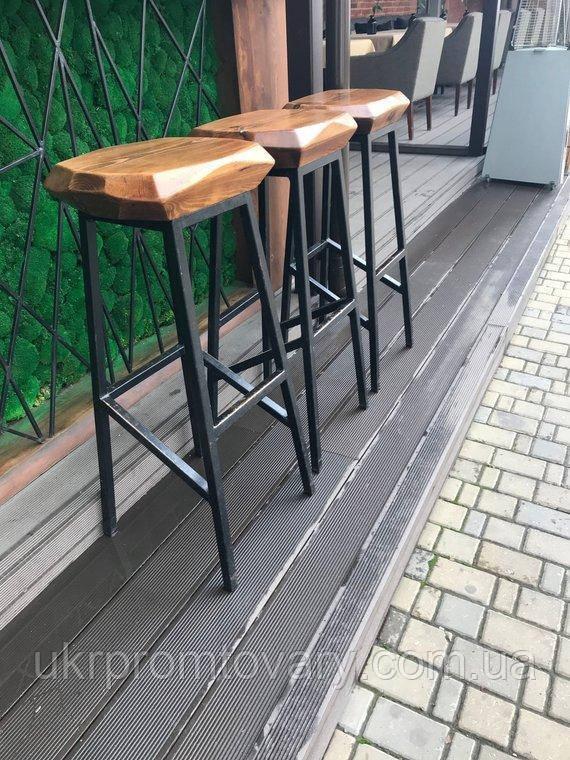 Барный стул LOFT DESIGN 63445, НАТУРАЛЬНОЕ ДЕРЕВО, мебель Лофт Производство в Киеве