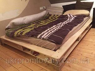Кровать LOFT DESIGN 63556, НАТУРАЛЬНОЕ ДЕРЕВО, мебель Лофт Производство в Киеве, фото 2