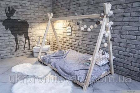 Кровать LOFT DESIGN 63583, НАТУРАЛЬНОЕ ДЕРЕВО, мебель Лофт Производство в Киеве, фото 2