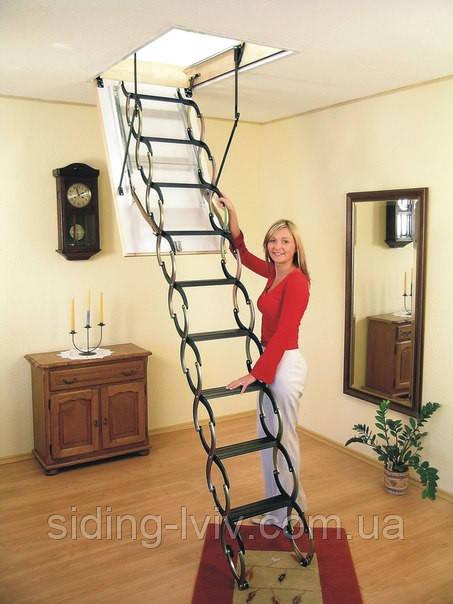 Купити Сходи на горище Oman Оман NOZYCOWE Ножицові 120-60, 120-70, 110-70, 110-60 ціна,Львів, Київ, Одесса