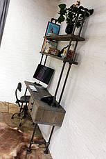 Рабочий стол LOFT DESIGN 63844, НАТУРАЛЬНОЕ ДЕРЕВО, мебель Лофт Производство в Киеве, фото 2