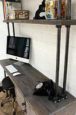 Рабочий стол LOFT DESIGN 63844, НАТУРАЛЬНОЕ ДЕРЕВО, мебель Лофт Производство в Киеве, фото 3