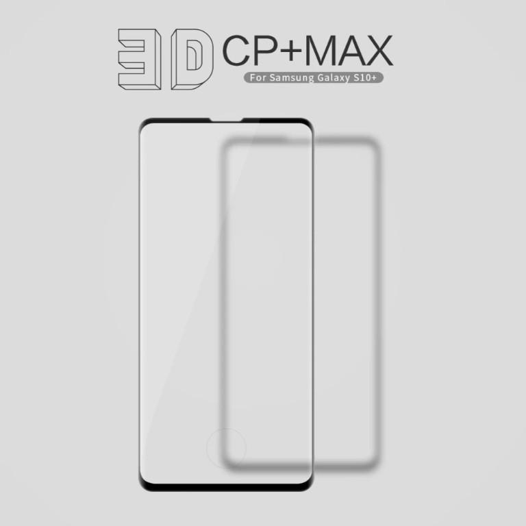 Защитное стекло Nillkin 3D CP+ Max для Samsung Galaxy S10 Plus закругленные края