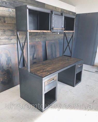Рабочий стол LOFT DESIGN 63880, НАТУРАЛЬНОЕ ДЕРЕВО, мебель Лофт Производство в Киеве, фото 2