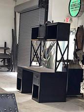 Рабочий стол LOFT DESIGN 63880, НАТУРАЛЬНОЕ ДЕРЕВО, мебель Лофт Производство в Киеве, фото 3
