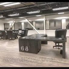 Робочий стіл LOFT DESIGN 63886, НАТУРАЛЬНЕ ДЕРЕВО, меблі Лофт Виробництво в Києві, фото 2