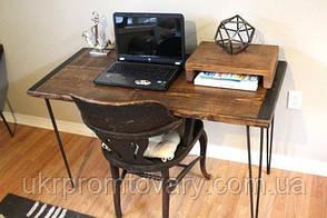 Робочий стіл LOFT DESIGN 63896, НАТУРАЛЬНЕ ДЕРЕВО, меблі Лофт Виробництво в Києві, фото 2