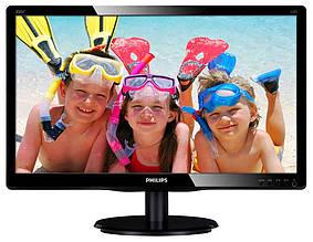 """Монитор Philips 19.53"""" 200V4QSBR/00 MVA Black; 1920 x 1080, 250 кд/м2, 8мс, VGA, DVI-D"""