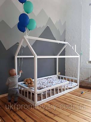 Ліжко LOFT DESIGN 64023, НАТУРАЛЬНЕ ДЕРЕВО, меблі Лофт Виробництво в Києві, фото 2