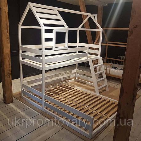 Кровать LOFT DESIGN 64028, НАТУРАЛЬНОЕ ДЕРЕВО, мебель Лофт Производство в Киеве, фото 2