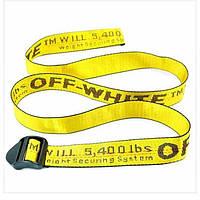 Ремни Off White желтый, ремни Off White, ремни Off White, брендовые ремни офф вайт из Турции, ремни