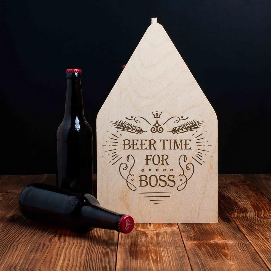"""Ящик для пива """"Beer time for boss"""""""