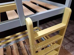 Ліжко LOFT DESIGN 64044, НАТУРАЛЬНЕ ДЕРЕВО, меблі Лофт Виробництво в Києві, фото 2