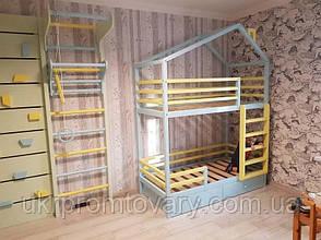 Ліжко LOFT DESIGN 64044, НАТУРАЛЬНЕ ДЕРЕВО, меблі Лофт Виробництво в Києві, фото 3