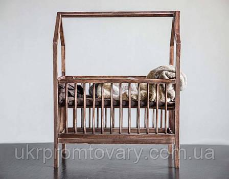 Кровать LOFT DESIGN 64091, НАТУРАЛЬНОЕ ДЕРЕВО, мебель Лофт Производство в Киеве, фото 2