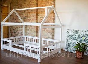 Кровать LOFT DESIGN 64096, НАТУРАЛЬНОЕ ДЕРЕВО, мебель Лофт Производство в Киеве, фото 3