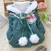 Стильная куртка в горошек для девочки, фото 1