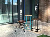 Барный стул GoodsMetall из металла в стиле ЛОФТ БС17