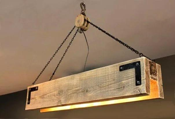 "Светильник в стиле Лофт ""Лебедка"""