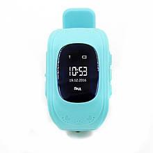 """Детские смарт-часы GoGPS ME К50 Бирюзовый (К50БЗ); 0.96"""" (128x32) LCD / MediaTek MTK6261 / GPS, A-GPS, LBS / 54 х 34 х 12.5 мм, 35 г / 400 мАч /"""