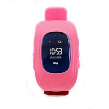 """Детские смарт-часы GoGPS ME К50 Розовый (К50РЗ); 0.96"""" (128x32) LCD / MediaTek MTK6261 / GPS, A-GPS, LBS / 54 х 34 х 12.5 мм, 35 г / 400 мАч / розовый"""