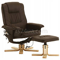 Массажное кресло с подогревом REGOline коричневое
