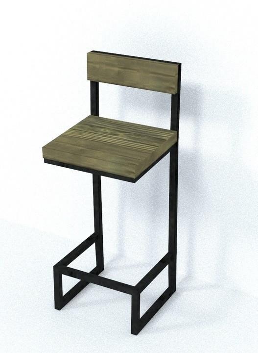 Барный стул в стиле ЛОФТ 750х350х350