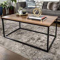 Журнальный столик с полочкой GoodsMetall 1000х450х450 в стиле Лофт ЖС34