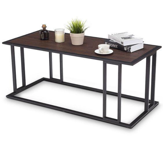 Журнальный столик с полочкой 1000х450х350 в стиле Лофт