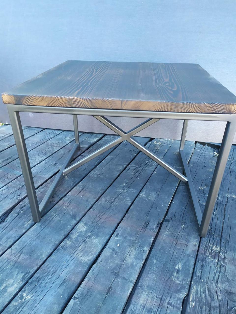 Журнальный столик в стиле Лофт 600х600х450